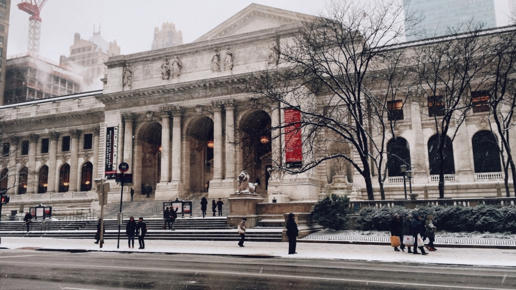 NYC Library Snow