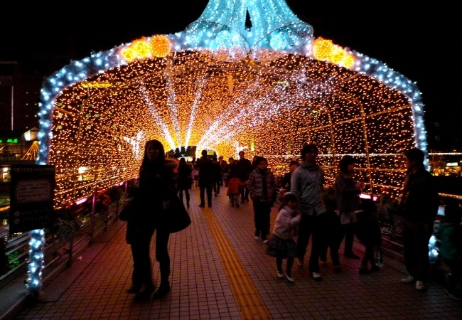Japan lights at Christmas