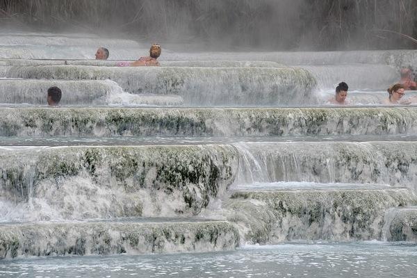 Tuscany Hot Springs Falls