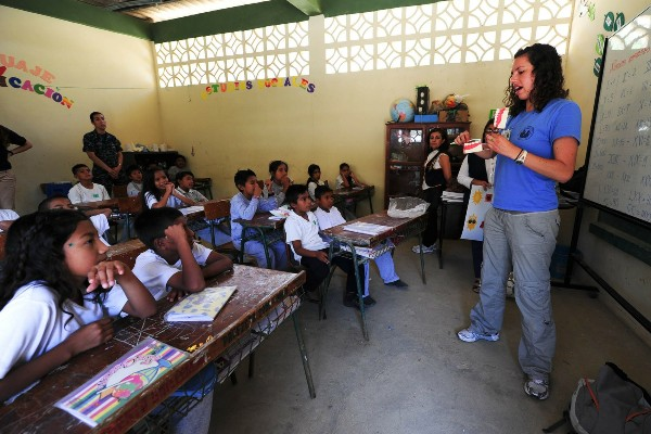 teaching abroad in school