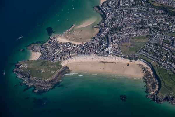St Ives Birds Eye View
