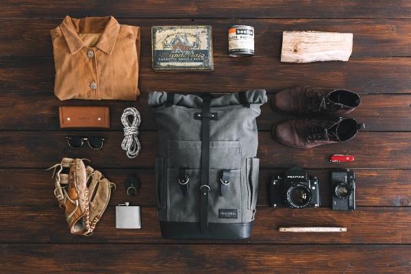 Backpack Flatlay